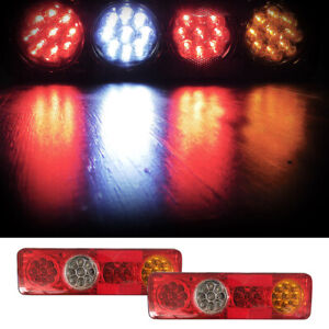 36 Led 12v Car Truck Trailer Rear Tail Light Brake Reverse Indicator Lamp Good