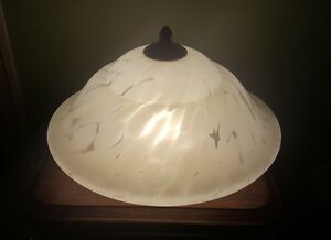 Vintage Murano Spatter Glass Shade Ceiling Mount Light Fixture Chandelier 2