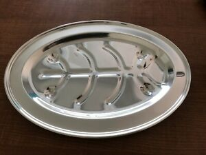 Wallace Brothers Silver Plate Meat Serving Oval Platter