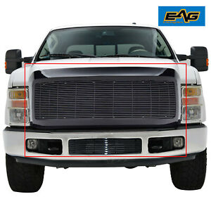 Eag Black Billet Grille Shell Fit For 08 10 Fit Ford Super Duty F250 F350