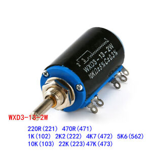 220r 47k Wxd3 13 2w Rotary Multiturn Wirewound Potentiometer Variable Resistor