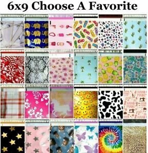 1 1000 6x9 Choose Your Favorite Designer Poly Mailer Bags Fast Shipping