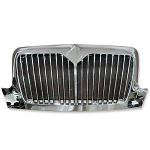 Chrome Front Grille Fit International Durastar 2002 4200 4300 4400 4000 Series