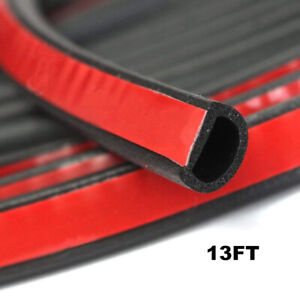 4m Big D Shape Car Door Window Trim Edge Moulding Rubber Weatherstrip Seal Strip