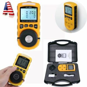4 In 1 Gas Detector Co O2 H2s Oxygen Lel Gas Monitor Testing Analyzer Meter 0 1