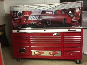 Snap On Snapon Snap on Kra2418 Tool Cabinet Hutch And Ss Top Glo Mad