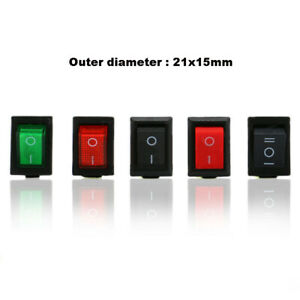 On off Rocker Switch 2 6pin 21x15mm With Lights without Lights Red black green