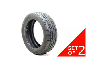 Set Of 2 Used 215 50r17 Goodyear Assurance All Season 91v 7 5 32