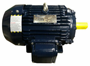 20 Hp 256t Electric Motor 3 Phase 3600 Cast Iron High Efficient Design C