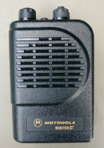one Motorola Minitor Iii 3 Vhf 2 Channels Pager Stored Voice Fire Ems