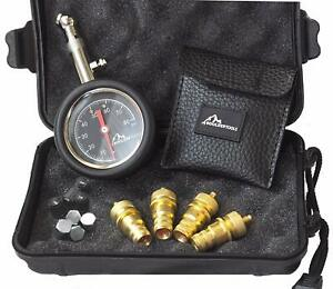 Boulder Tools Tire Deflators And 80 Psi Tire Pressure Gauge Adjustable Automatic
