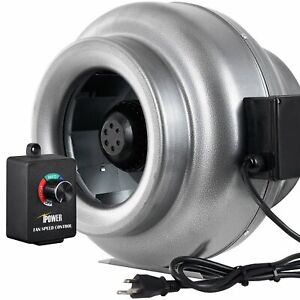 Ipower 12 Inch 1060 Cfm Duct Inline Fan Hvac Exhaust Blower Speed Controller