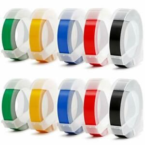 Compatible Dymo Plastic 3d Embossing Label Tapes 3 8 For Embossing Label Maker
