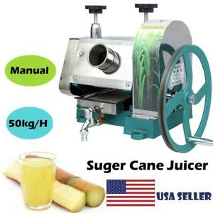 Commercial 50kg h Sugar Cane Ginger Press Juicer Juice Machine Extractor Mill