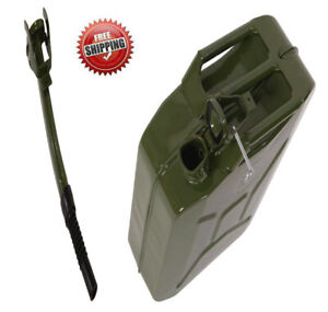 5 Gal 20l Gas Gasoline Fuel Army Nato jerry Can Military Metal Steel Tank Backu