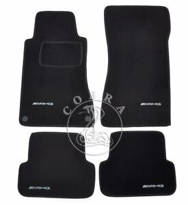 Floor Mats With Amg Logo Fits Mercedes Clk W209 2002 03 04 05 06 07 08 09 2010