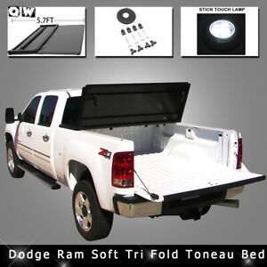 Cab Crew Soft Tri Fold Tonneau Cover For 2009 19 Dodge Ram 1500 5 7ft 69 6in Bed