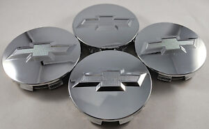 4x Studded Chrome Wheel Center Caps For Chevrolet Surburban Silverado Tahoe