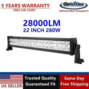 New 22 280w Cree Spot Flood Comb Led Light Bar Offroad Pickup Truck Atv 4wd 24