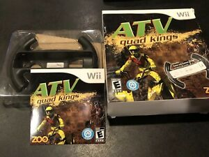 ATV Quad Kings (Nintendo Wii  2009) With Steering Wheel In Box Pre-owned