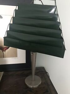 Mid Century Modern Lamp And Green Metal Shade