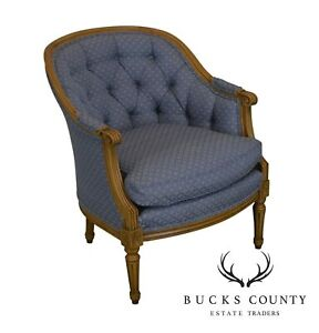 Baker French Louis Xvi Style Bergere Club Chair