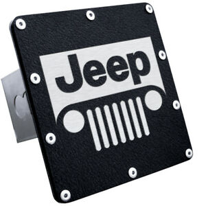 Jeep Grill Class Iii Rugged Black Trailer Hitch Cover Plug