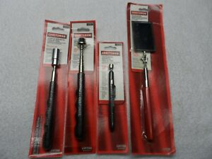 Craftsman Telescopic Magnetic Pick Up Tool Light Mirror Set Made Usa 4 Pcs