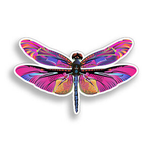 Pink Purple Dragonfly Sticker Dragon Fly Bug Laptop Cup Car Vehicle Window Decal