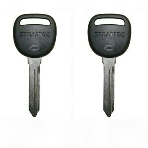 2 New Gm 19120647 Saturn Chevy Pair Non Transponder Keys Strattec 692076