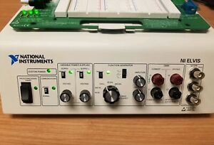National Instruments Ni Elvis Platform With Prototyping Board Power Supply
