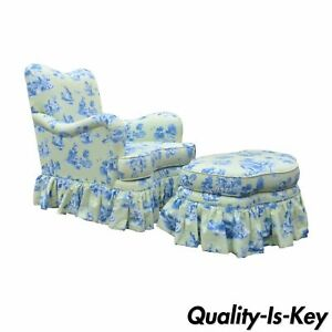 Drexel Heritage Vera Bradley Rolled Arm French Country Club Chair