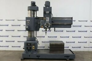 Heckert Wmw Br 50 X 1600 5 X 13 Radial Arm Drilling Tapping Machine