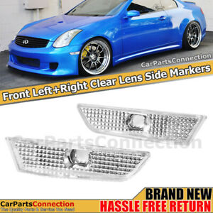 Bumper Side Markers Reflectors Left Right Fender Lamps For Infiniti G35 03 07