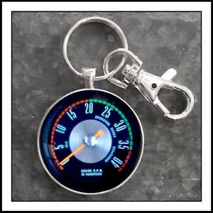 Vintage Ford Truck 58 67 Super Duty Tachometer Photo Keychain Fathers Day Gift