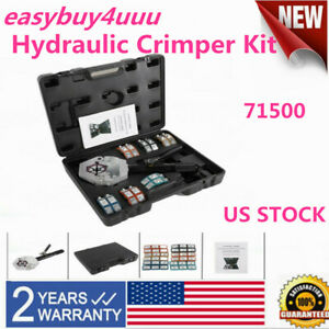 Portable 71500 A c Hose Hydraulic Crimper Kit Air Hose Fittings Crimping Tools