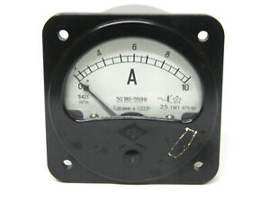 Russian Military Vintage Ammeter E421 0 10a From 1970 s