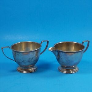Vintage Sterling Silver Sugar And Cream Bowls Servers 3285 3 Tall