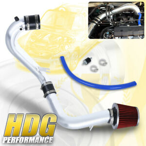 For Honda 01 05 Civic 1 7l Ex Red Filter 2 5 Cold Air Intake Piping Kit Bolt On