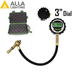 3 Dial Rapid Deflator Digital Tire Pressure Gauge 60psi Back Light Easy Reading