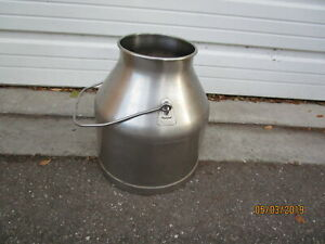 Vtg Stainless Steel Delaval Milk Can Bucket 5 Gallon Pail Farm Dairy