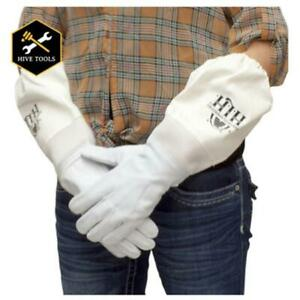 Clothgxl 103 Extra Large Goat Skin Beekeeping Gloves Durable With Ventilation