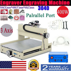 3040 3 axis Cnc Router Engraver Engraving Drill Mill Machine Pvc Wood Us Stock