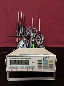 Cole Parmer 8502 12 Digital Thermistor Thermometer 5 Input With Probes Tested