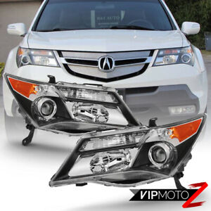 For 07 09 Acura Mdx W o Afs Model Only Factory Style Replacement Headlight Pair