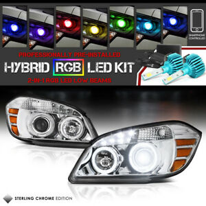 Chevy 05 10 Cobalt Halo Ring Projector Led Head Lamp ultra Bright Rgb Light Bulb