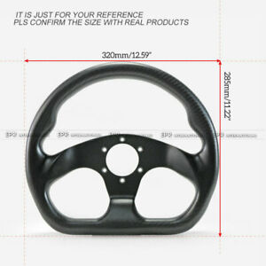 Flat Type Racing Steering Wheel Cover Kit Momo 320mm Diameter Bolts Matte Carbon
