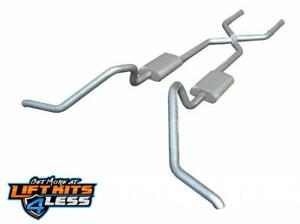 Pypes Sgb10 Crossmember Back W X Pipe Exhaust System For 65 71 Chevrolet Impala