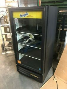 True Gdm 10 Single 1 Door Glass Black Refrigerator Cooler Drink Fo