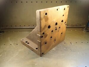12 X 12 X 10 Steel Right Angle Mill Milling Set Up Fixture Plate Used Good